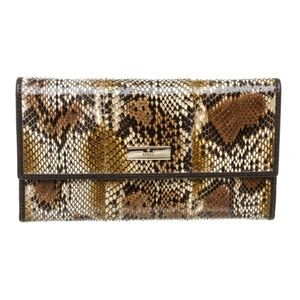Gucci Brown Python Trifold Wallet